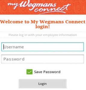 mywegmansconnect.com login